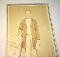 Rare Antique American Civil War Fashion Dapper Gent! Rhode Island CDV Photo! US!
