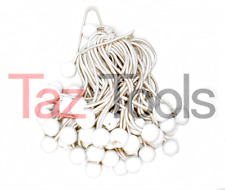 "100 pc 6"" white Ball Bungee Bungie Cord Heavy Duty Canopy Tarp Tie Downs Straps"