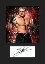 BROCK LESNAR #3 (WWE) Signed Photo A5 Mounted Print - FREE DELIVERY