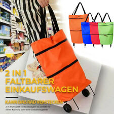 2 In1 Foldable Shopping Cart Portable Folding Grocery Bag Tote Market Trolley US