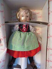"Danbury Mint's ""Shirley Temple Dolls of the Silver Screen"" Heidi Vintage Porcela"