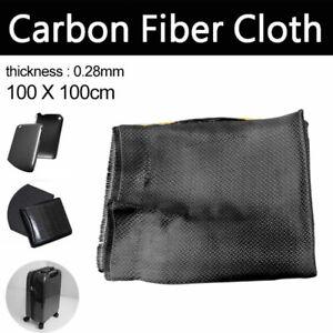 DIY 3K Carbon Fiber Cloth Fabric Plain Weave 2-2 Twill Weaving 200g 100 x100cm