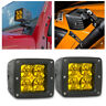 2x 3inch LED Spot Work Light Bar Fog Driving Offroad SUV ATV UTV 4X4 4WD Yellow
