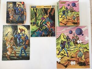 He-Man Golden Jigsaw Puzzles Vintage Set of 3 Surprise Attack Fearless Foes