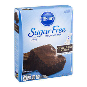 Pillsbury Sugar Free Brownie Mix Chocolate Fudge 12.35 oz   ( 2 boxes )