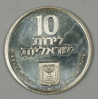 1972 Israel 10 Lirot Silver Proof Pidyon Haben Commem Coin in Original Case