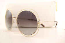 Brand New Chloe Sunglasses CE 114S Color 737 Gold/Transparent Grey Women