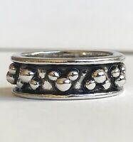 Mickey Mouse Icon Eternity Ring Band Silver Plated Size 6 7 Disney Vintage RARE