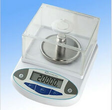 0.01g x2000 Precision Digital Balance Scale +Windshield for Lab Pharmacy Jewelry