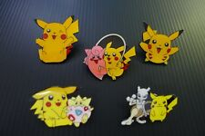 5 PIKACHU Pokemon Togepi Mewtwo Clefairy anime Pins