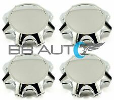 2011-2018 SILVERADO SIERRA 2500 3500 8 LUG CHROME WHEEL HUB CENTER CAPS SET NEW