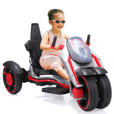 12v Kids Ride on Car Racing Battery Power Wheels Electric Music Light White
