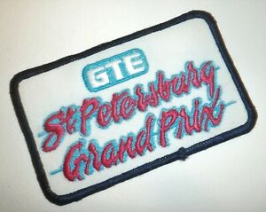 Vintage 1980's GTE St Petersburg Grand Prix Florida Embroidered Race Patch