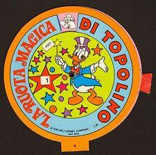 LA RUOTA MAGICA DI TOPOLINO PAPERINO WALT DISNEY MINNIE PAPERONE GIOCO ANNI 80