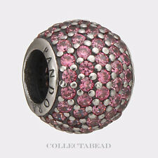 Authentic Pandora Sterling Silver Pink Pave Lights CZ Bead 791051CZS