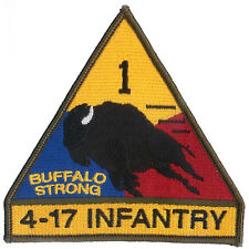 1st AD - 4-17 Infantry - 1st SBCT - Ft Bliss - Embroidered Hook & Loop Patch