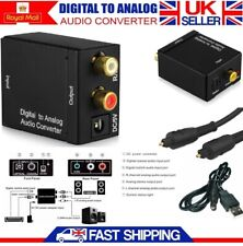 Optical Coax TOSLINK Adapter Digital to Analog Converter RCA L/R Stereo Audio HD