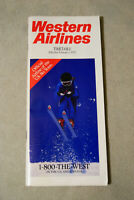 Western Airlines Timetable - Feb 1, 1987