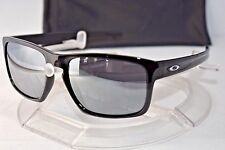 NEW OAKLEY SLIVER SUNGLASSES OO9262-04 Polished Black / Black Iridium