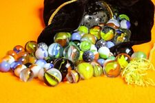 20 Mixed Lot Antique Vintage & Contemporary Handmade Machine Art Glass Marbles