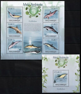 Dolphins Natural Environment, Fish, Marine, Mozambique 2010 MNH SS+MS