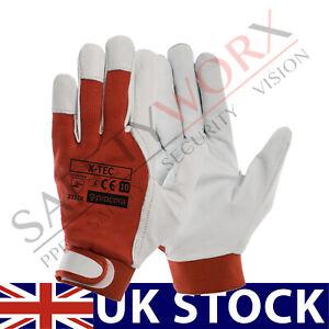Mechanics Leather Work Gloves Full Grain Goatskin