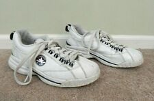 Converse All Star Chuck Taylor Limited Edition White Leather Sneakers, Sz 7