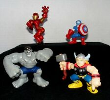 Marvel Super Hero Squad Lot from Avengers Face Off Thor, Hulk, Iron Man, Captain