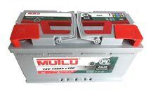 Mutlu AGM Batteria Solare 12v 140ah CAMPER CAMPEGGIO BARCA approvvigionamento riabilitazione