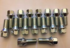 16 X M14X1.25 28mm Pernos de rueda de aleación de plata del hilo de rosca se adapta Mini ver lista