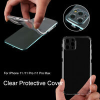 TPU Back Camera Lens Clear Protective Case Cover Non-slip for IPhone 11 Pro Max