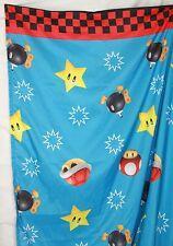 Nintendo Twin Sheet Super Mario Bros bomb mushroom Franco Mfg blue fabric