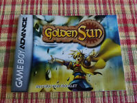 Golden Sun - Authentic - Nintendo Game Boy Advance - GBA - Manual Only!
