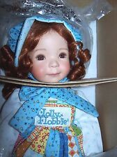 "ASHTON DRAKE / DIANNA EFFNER PORCELAIN ""A HOLLY HOBBIE AUTUMN"" DOLL NIB W/COA"