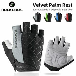 ROCKBROS Cycling Gloves Half Finger Shockproof Wear Resistant Breathable MTB