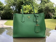 Prada Double Bag Green Saffiano Leather 6137c5542ab79