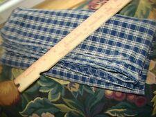 "VINTAGE HOMESPUN COTTON Gingham Fabric Quilt/Doll 44 wide, 48"" Long"