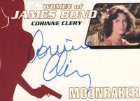 James Bond Heroes & Villains Bond Women Corinne Clery Autograph Card WA34