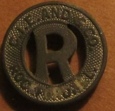 1942 C.I.E. And G. Co. Rockford, IL  Transit Trolley Token - Illinois