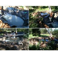 10FT 3*2M Fish Pond Liner Membrane Reinforced Garden Pool Landscaping Waterproof