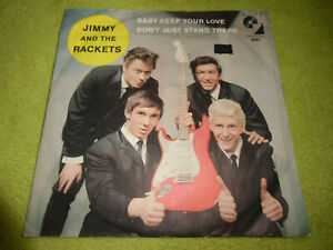 """7""""Single* Jimmy And The Rackets - Baby Keep Your Love *GUT* BEAT*POP*ROCK"""
