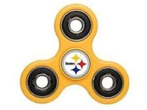 Pittsburgh Steelers Diztracto Spinner Logo 3-way Toy Stress Fidget Hand Finger