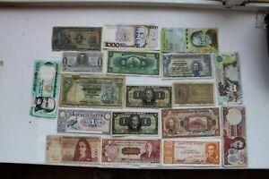 South America Banknotes, 17 total, 1920-Pres (BRA, ARG,PER, BOL,ECU,URU,PAR,VEN)