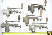 Vintage #323 Hand Crank Meat Grinder LF & C New Britain Conn #2 USA Lot of 5