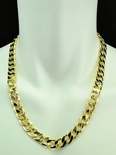 14K GOLD FILLED CUBAN LINK CHAIN NECKLACE SOLID 12MM - 24IN