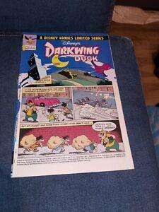 DARKWING DUCK 1 1991 WALT DISNEY COMICS LIMITED SERIES JOHN BLAIR CARTOON SHOW🔥
