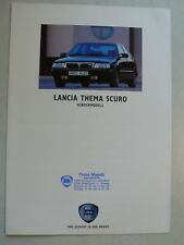 Prospekt Lancia Thema Sondermodell Scuro, ca.1992, 6 Seiten, folder