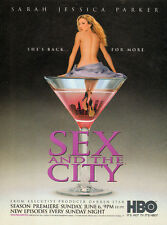 1999 print AD TV Premier SEX AND THE CITY w/ Sarah Jessica Parker nude 102115