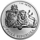 2018 1 Oz Silver $2 Niue CZECH LION BU Coin.