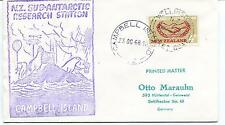 1966 N.Z. Sub Antarctic Research Station Campbell Island Polar Antarctic Cover